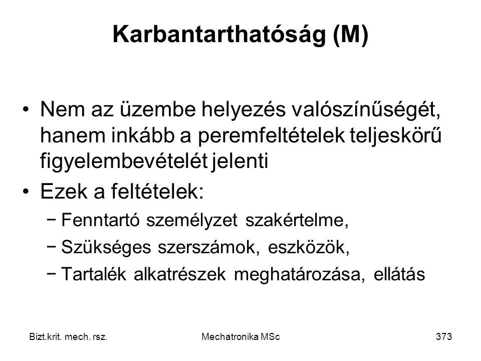 Karbantarthatóság (M)