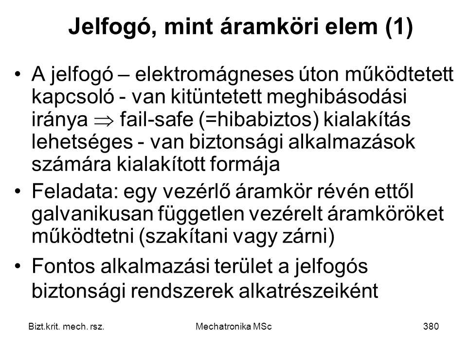 Jelfogó, mint áramköri elem (1)
