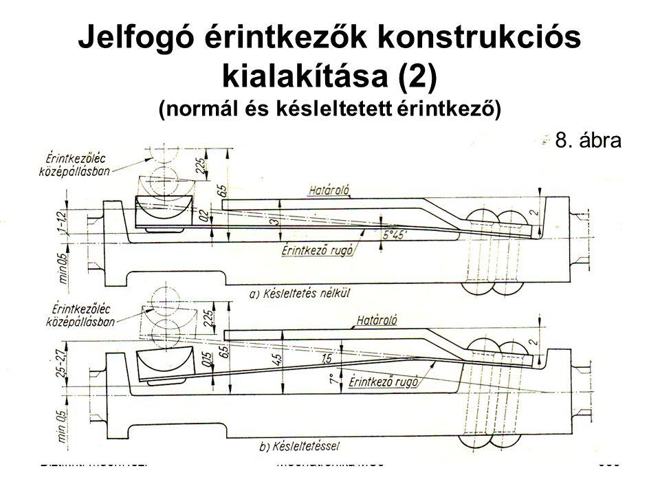 Jelfogó érintkezők konstrukciós kialakítása (2) (normál és késleltetett érintkező)