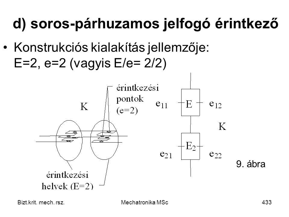 d) soros-párhuzamos jelfogó érintkező