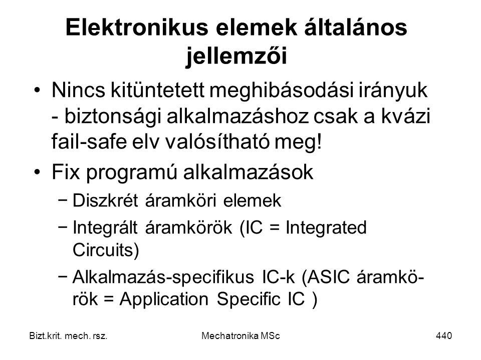 Elektronikus elemek általános jellemzői