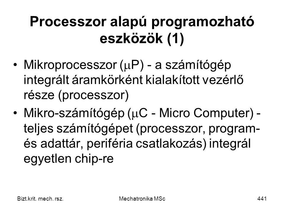 Processzor alapú programozható eszközök (1)