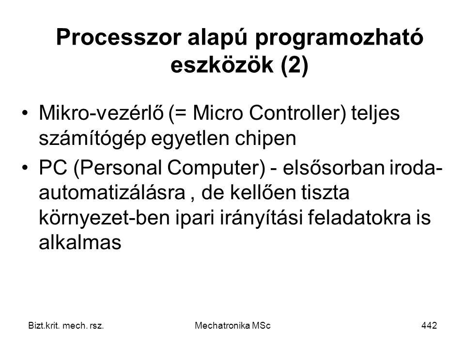 Processzor alapú programozható eszközök (2)