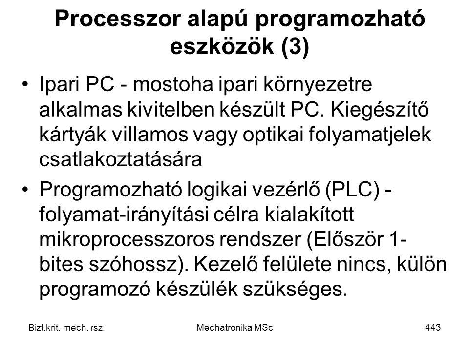 Processzor alapú programozható eszközök (3)