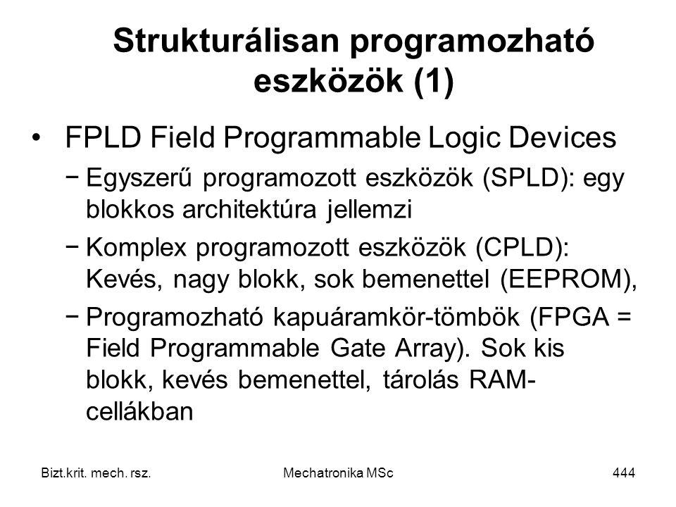 Strukturálisan programozható eszközök (1)