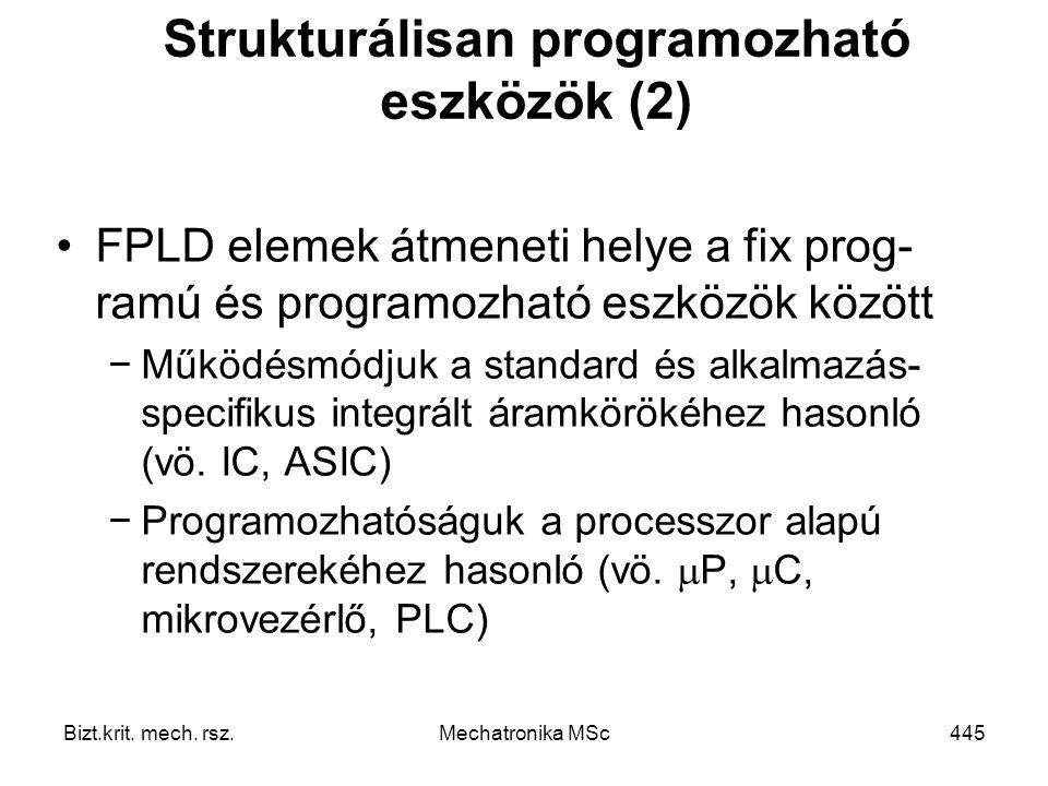Strukturálisan programozható eszközök (2)