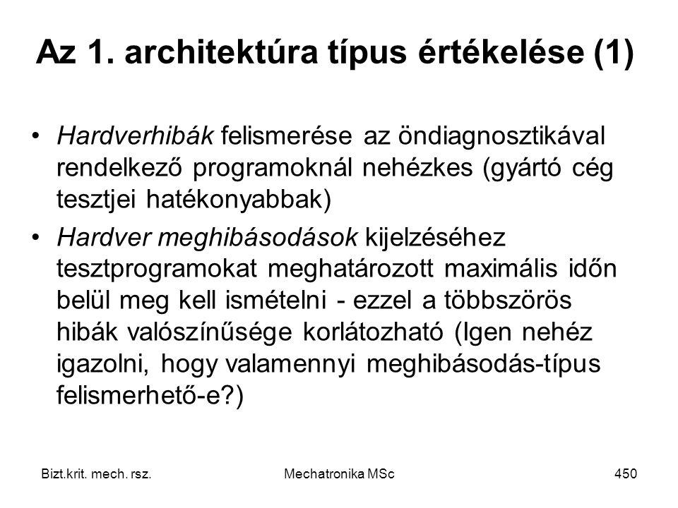 Az 1. architektúra típus értékelése (1)