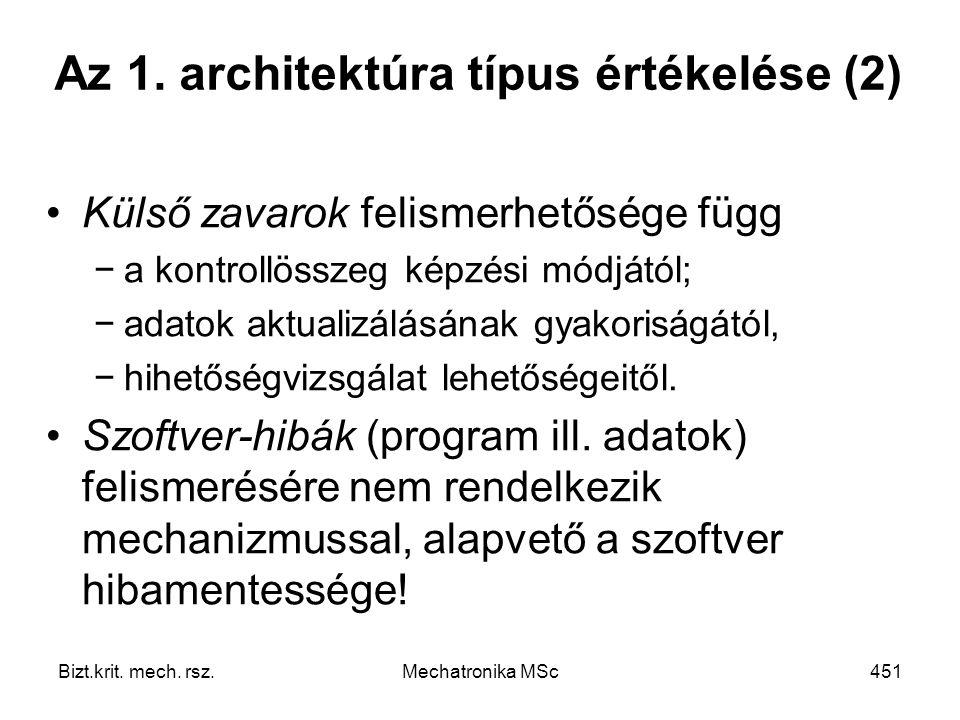 Az 1. architektúra típus értékelése (2)