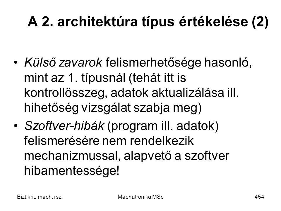A 2. architektúra típus értékelése (2)