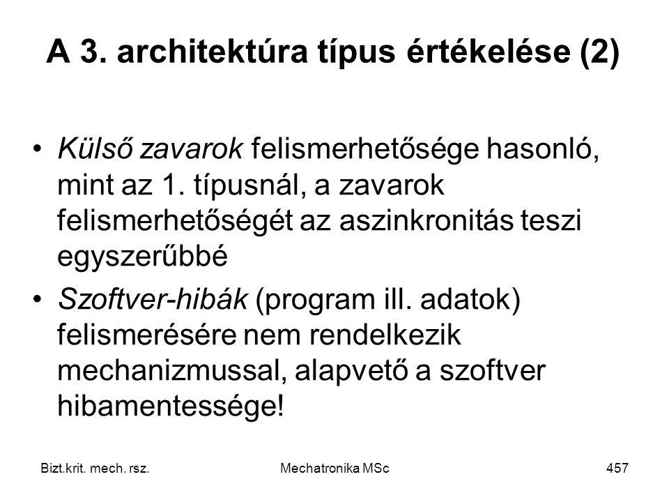 A 3. architektúra típus értékelése (2)