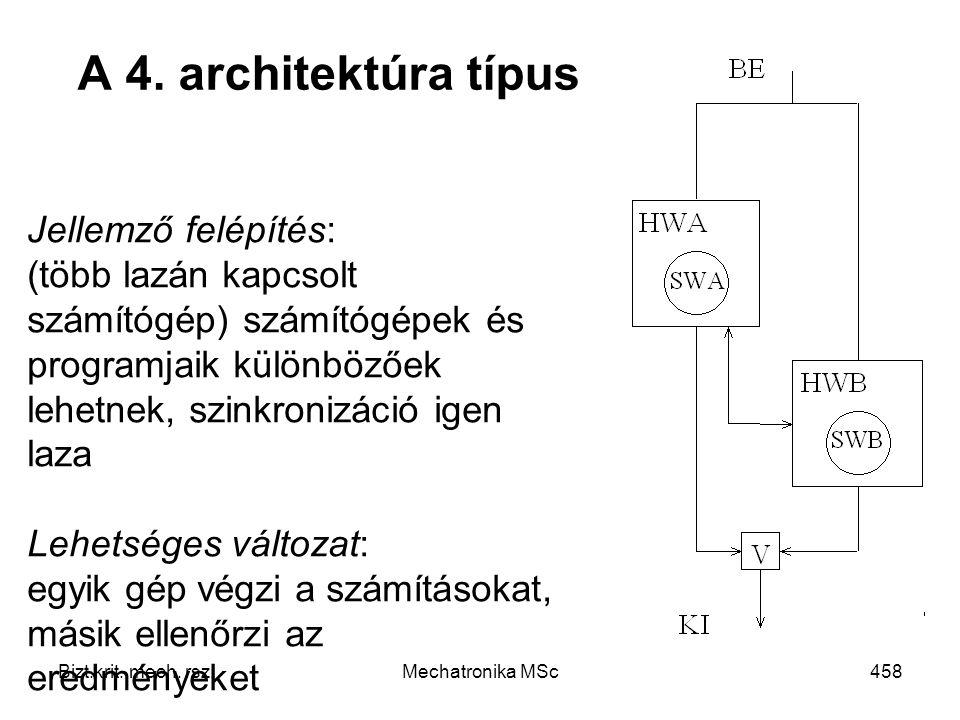 A 4. architektúra típus Jellemző felépítés:
