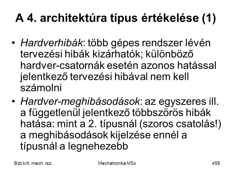 A 4. architektúra típus értékelése (1)