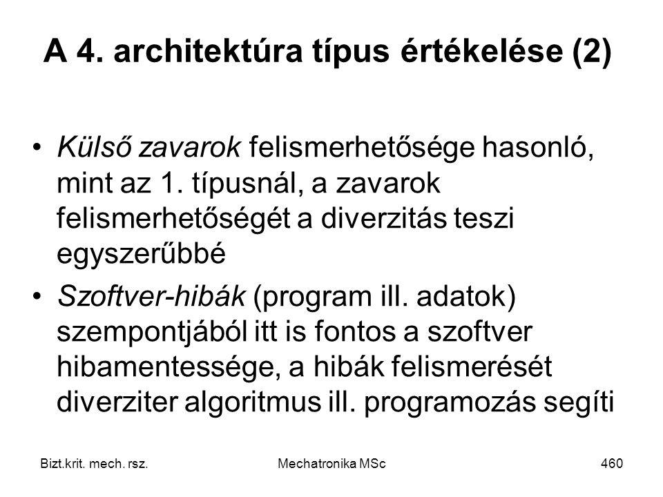 A 4. architektúra típus értékelése (2)