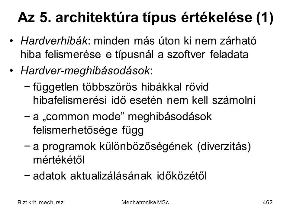 Az 5. architektúra típus értékelése (1)