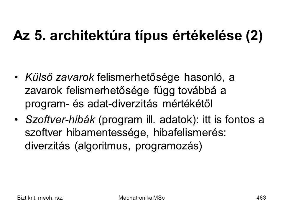 Az 5. architektúra típus értékelése (2)