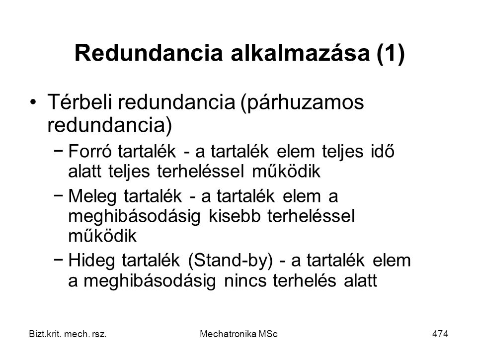 Redundancia alkalmazása (1)