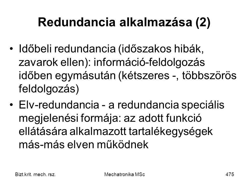 Redundancia alkalmazása (2)