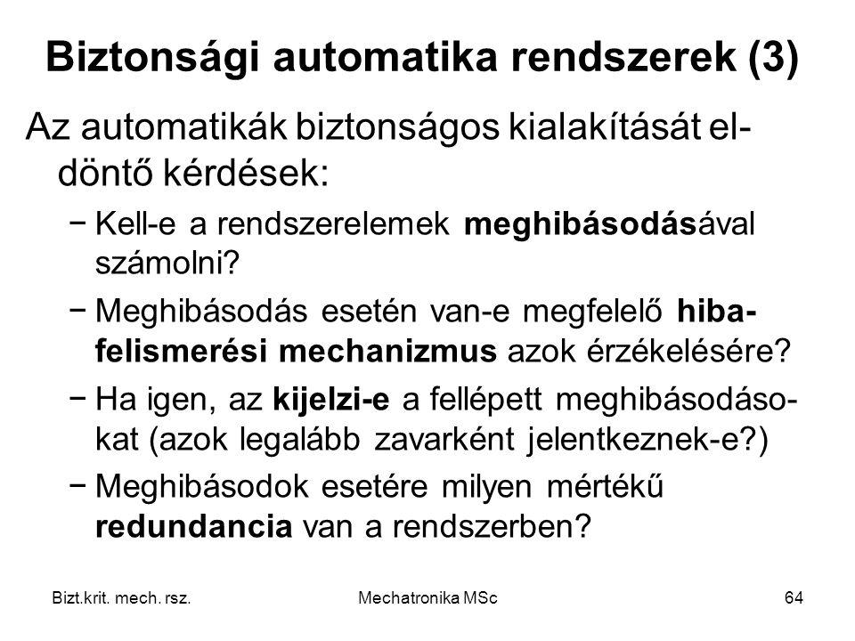 Biztonsági automatika rendszerek (3)