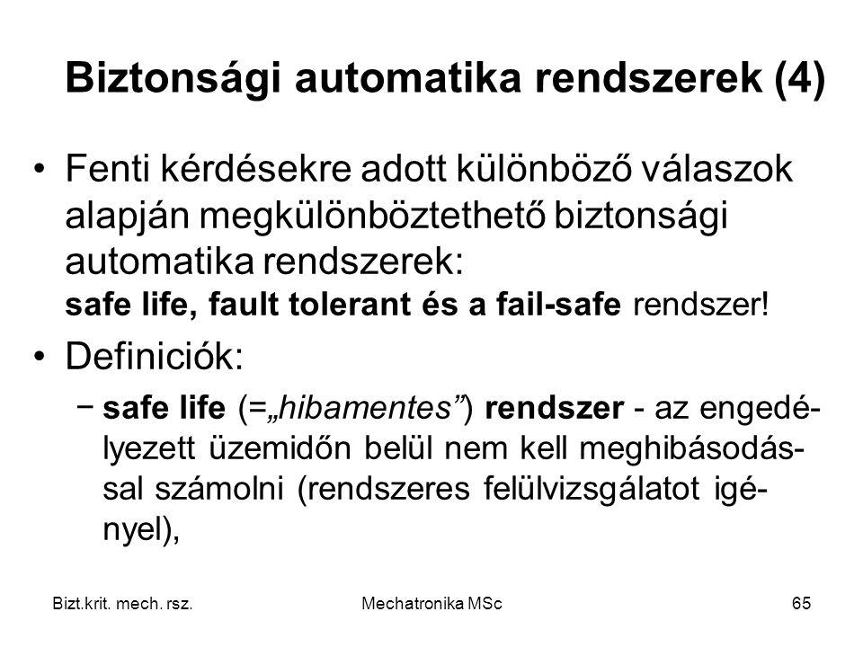 Biztonsági automatika rendszerek (4)