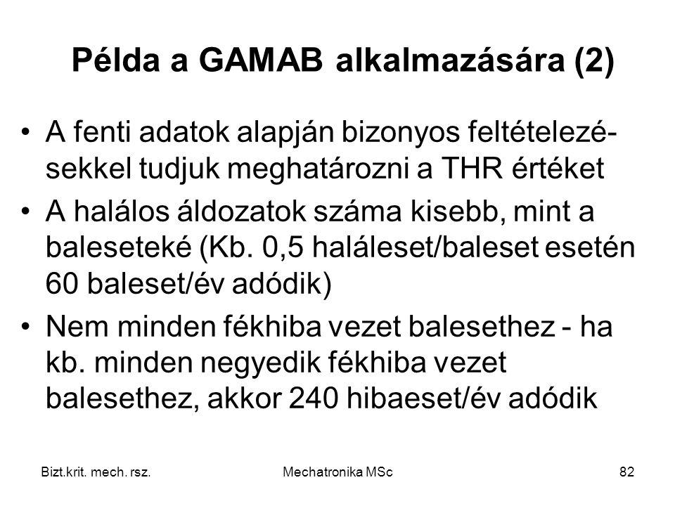 Példa a GAMAB alkalmazására (2)