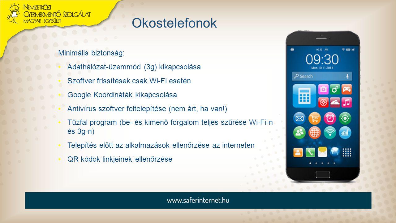 Okostelefonok Minimális biztonság: