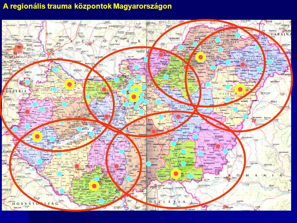 A regionális trauma központok Magyarországon