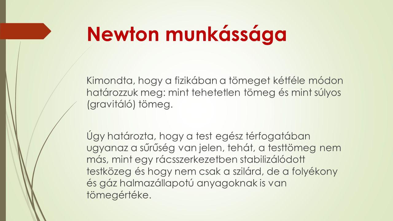Newton munkássága