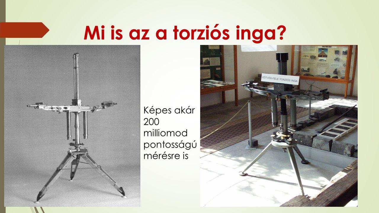 Mi is az a torziós inga Képes akár 200 milliomod pontosságú mérésre is