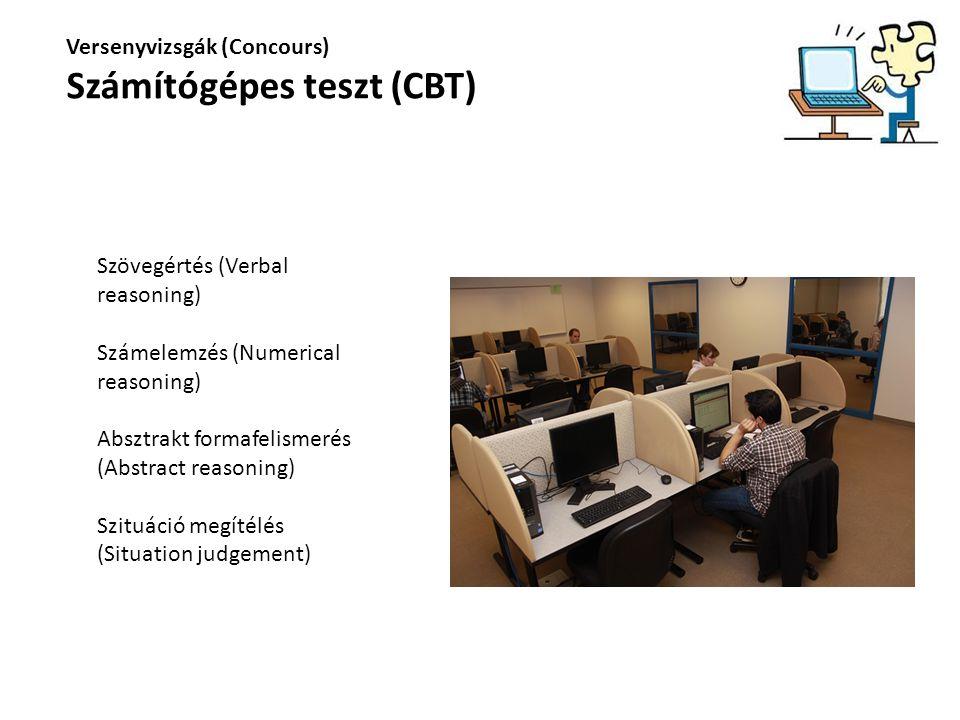 Számítógépes teszt (CBT)