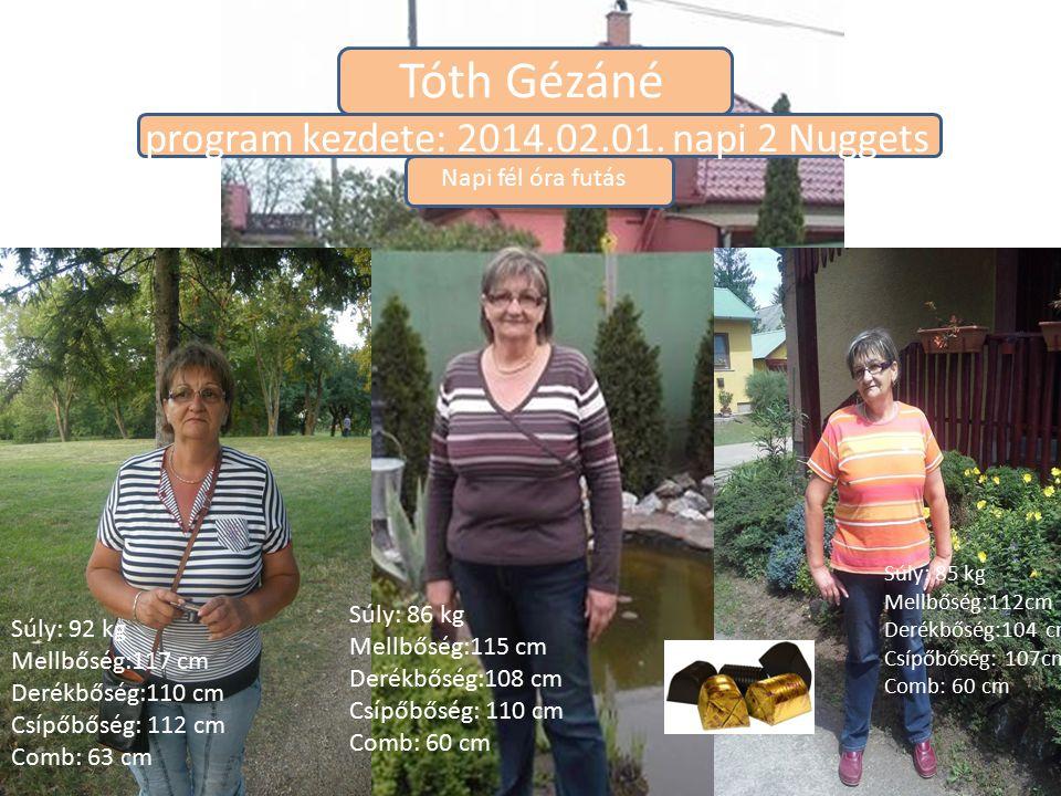 Tóth Gézáné program kezdete: 2014.02.01. napi 2 Nuggets