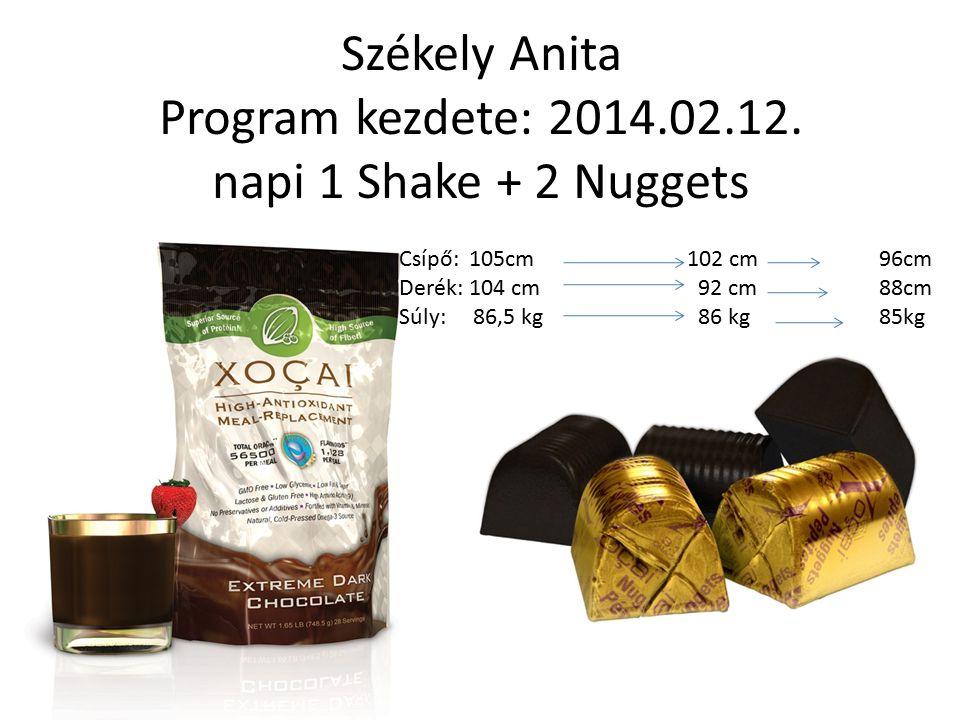 Székely Anita Program kezdete: 2014.02.12. napi 1 Shake + 2 Nuggets