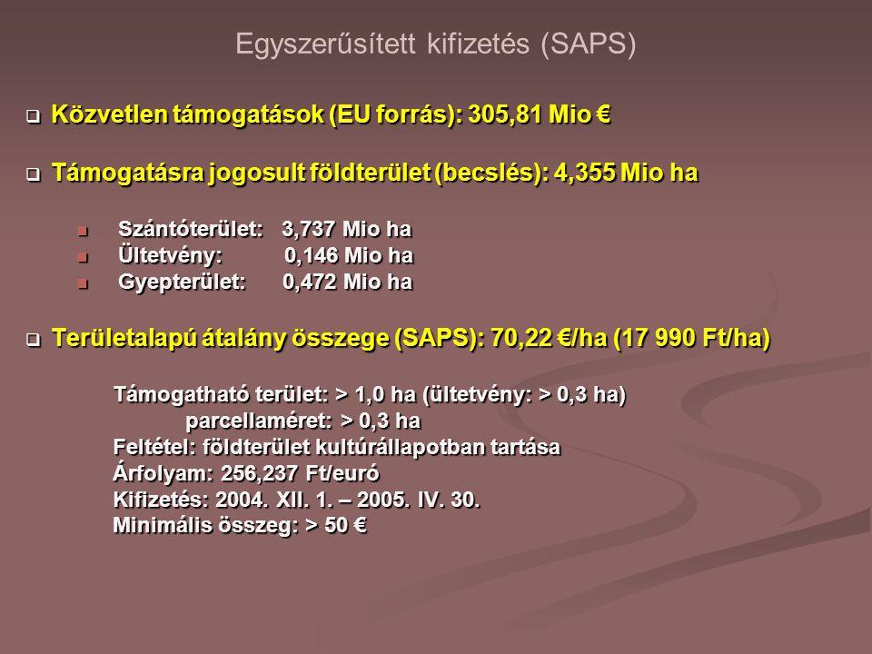 Egyszerűsített kifizetés (SAPS)