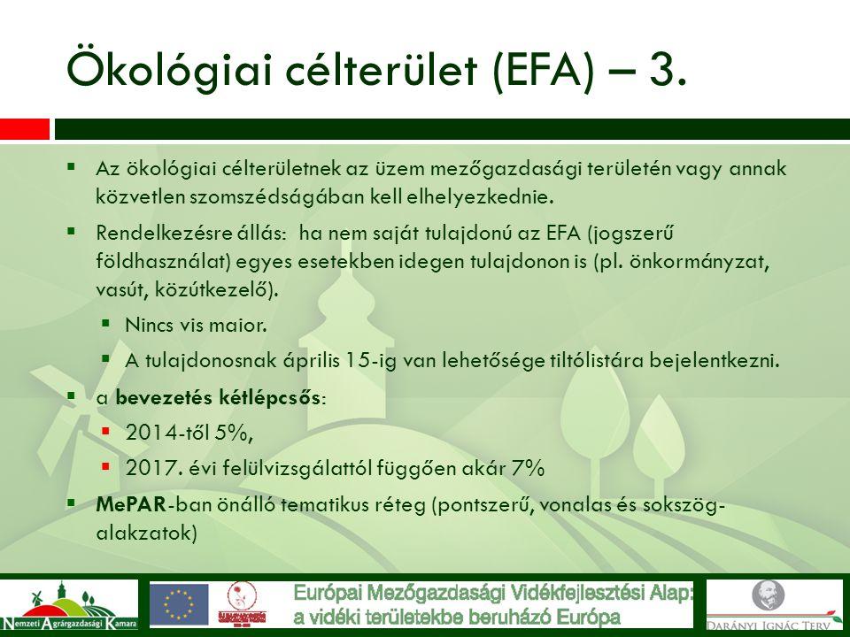 Ökológiai célterület (EFA) – 3.