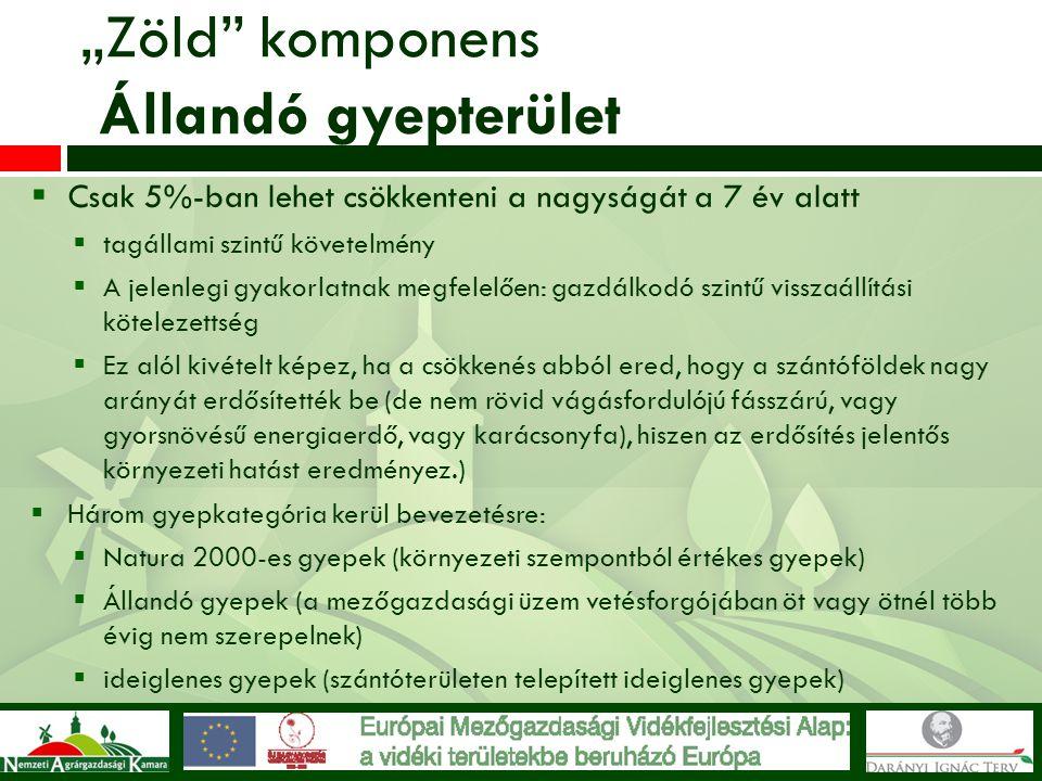 """""""Zöld komponens Állandó gyepterület"""