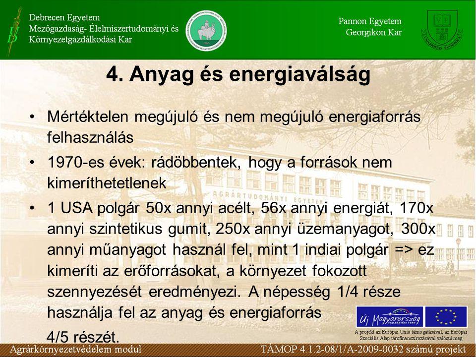 4. Anyag és energiaválság
