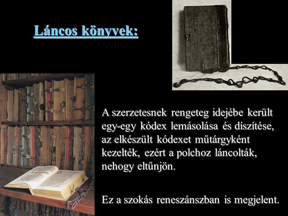 Láncos könyvek: