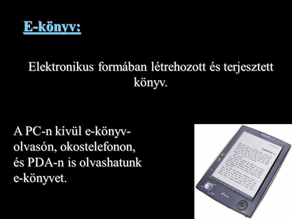 Elektronikus formában létrehozott és terjesztett könyv.