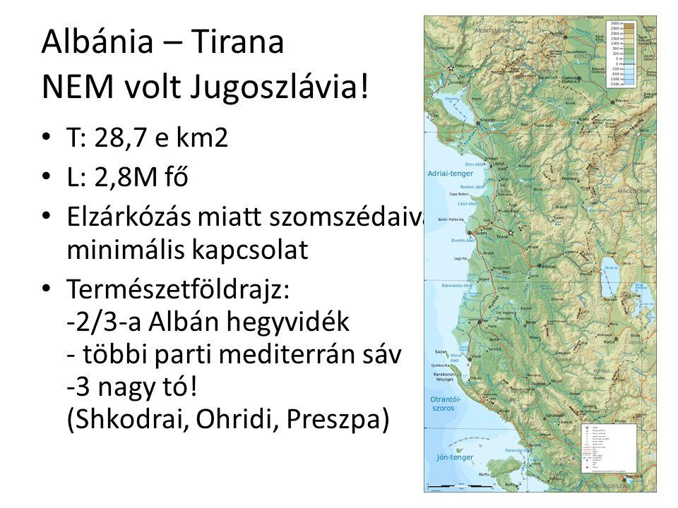 Albánia – Tirana NEM volt Jugoszlávia!