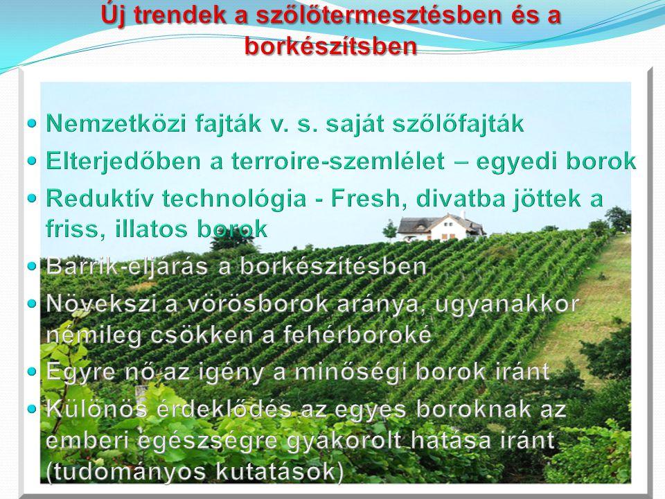 Új trendek a szőlőtermesztésben és a borkészítsben