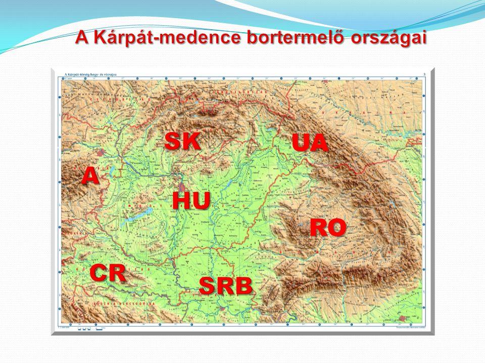 A Kárpát-medence bortermelő országai