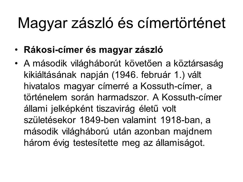 Magyar zászló és címertörténet