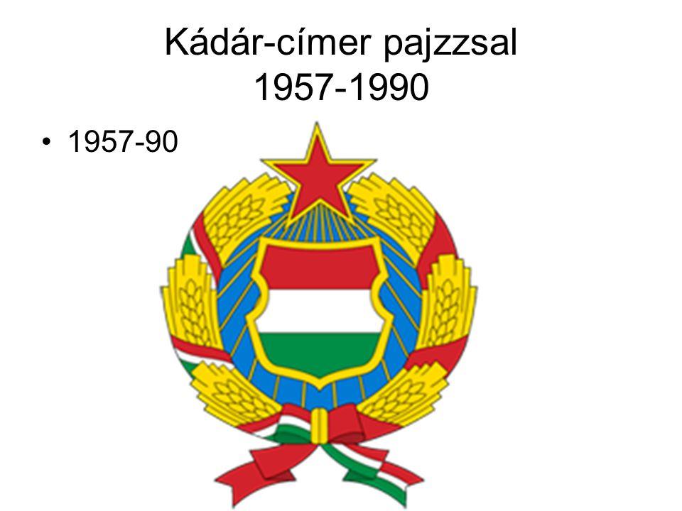 Kádár-címer pajzzsal 1957-1990