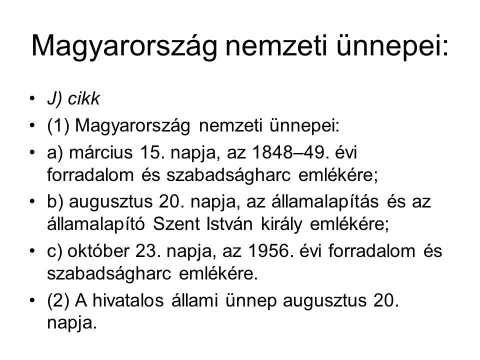 Magyarország nemzeti ünnepei: