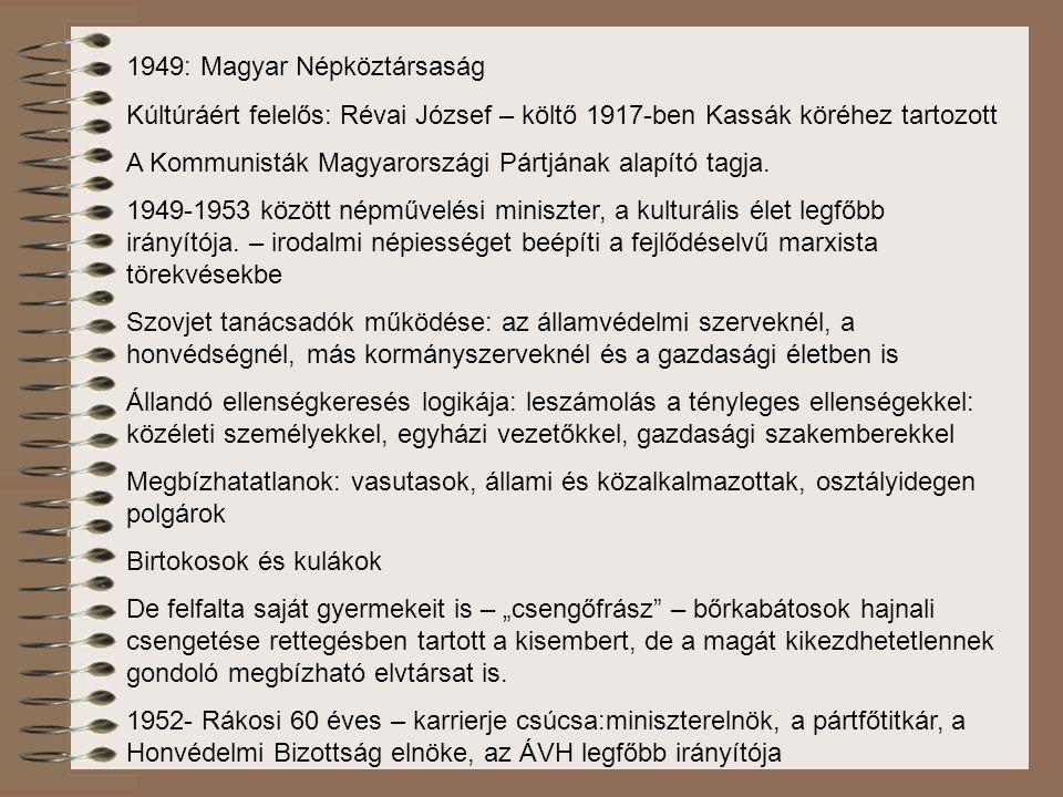 1949: Magyar Népköztársaság