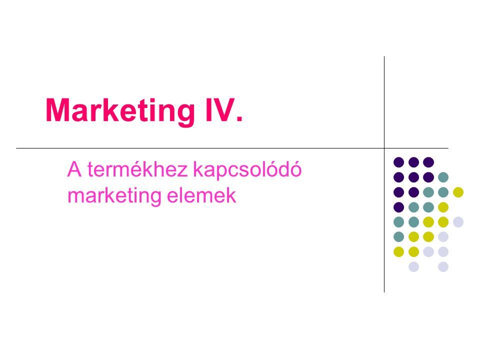 A termékhez kapcsolódó marketing elemek