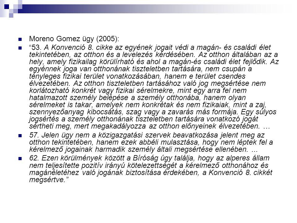 Moreno Gomez ügy (2005):