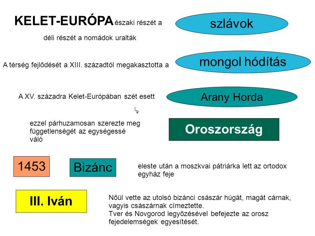 KELET-EURÓPA északi részét a szlávok