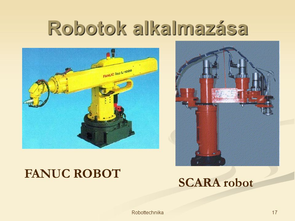 Robotok alkalmazása FANUC ROBOT SCARA robot Robottechnika