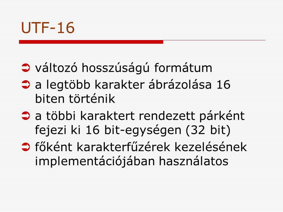 UTF-16 változó hosszúságú formátum