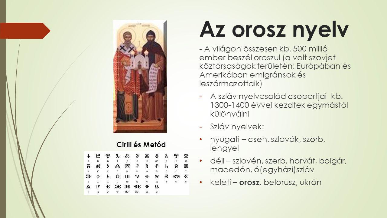 Az orosz nyelv